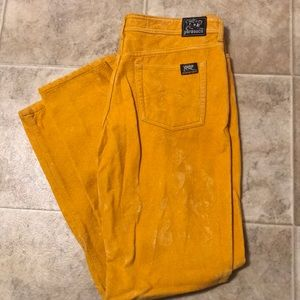 Parasuco Jeans Yellow Suede Pants